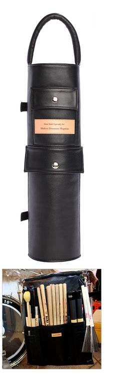 DRUMSTICK BAG by GREAT LEATHER Black