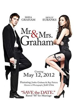 """For all of our couples who have just secured a wedding date, it's time to mail out those save the date cards! This theatrical spin off American-film """"Mr. and Mrs. Smith"""" is a fun way to let your friends and family know you are getting married!"""