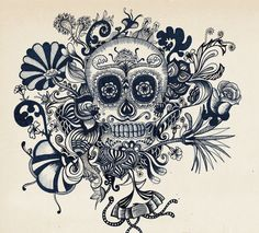 Catrina Illustration by Erykah Zeledón Salazar, via Behance