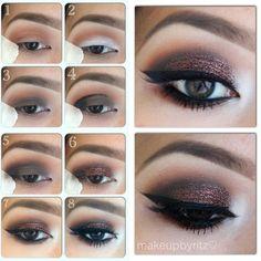 Love glitter eyeshadow!