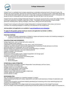10 brand ambassador resume sample riez sample resumes