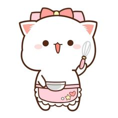 Cute Kawaii Animals, Cute Animal Drawings Kawaii, Cute Cartoon Drawings, Cute Cartoon Animals, Kawaii Cat, Kawaii Drawings, Cute Love Pictures, Cute Love Gif, Gif Mignon