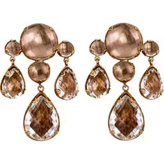 Larkspur & Hawk Topaz Halley Girandole Earrings ($3,000) ❤ liked on Polyvore