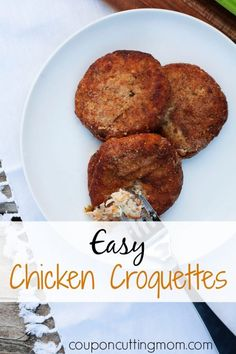 Easy Chicken Croquettes Recipe - Perfect for Freezer Meals by Coupon Cutting Mom Turkey Croquettes, Chicken Croquettes, Croquettes Recipe, Freezer Cooking, Freezer Meals, Cooking Recipes, Fast Recipes, Easy Chicken Recipes, Turkey Recipes
