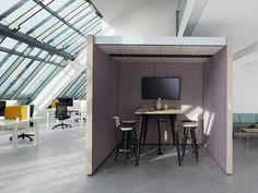 Cabine de escritório acústica com luzes integradas para reuniões NOOXS THINK TANK by BENE design PearsonLloyd
