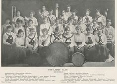 1916-17 UO Ladies' Band.  From the 1918 Oregana (UO yearbook).  www.CampusAttic.com
