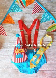 Circo cumpleaños pastel traje smash carnaval traje por GinaBellas1