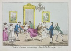 Natural Accidents in practicing Quadrille Dancing, early 19th century. V&A E.503-1955
