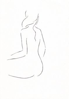 Minimalist nude sketch. Art for bedroom. www.siretroots.com © Siret Roots.