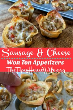 An easy appetizers with sausage crumbles and creamy cheese. A party and game day favorite. Tailgate Appetizers, New Years Appetizers, Easter Appetizers, Tailgating Recipes, Tailgate Food, Appetizer Recipes, Different Recipes, Other Recipes, Creamy Cheese
