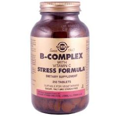 Solgar, B-Complex with Vitamin C Stress Formula, 250 Tablets Vitamin B Complex, Vitamin C, Health Vitamins, Tone It Up, Metabolism, Natural Health, Dairy Free, Protein