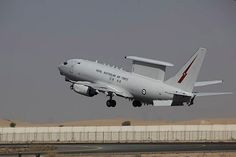A Royal Australian Air Force Airborne Early Warning and Control aircraft, the E-7A Wedgetail, takes off for another mission in Iraq from Australia's main operating base in the Middle East. Australia's Air Task Group consisting of six RAAF F/A-18F Super Hornets, an E-7A Wedgetail Airborne Early Warning and Control aircraft and a KC-30A Multi-Role Tanker Transport aircraft continue to support Operation OKRA with missions in Iraq.