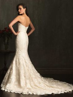 Allure Bridals » Style: 9072 » http://www.allurebridals.com/products/9072 Wedding Dress Collection Wedding Dresses Wedding Gown Wedding Gowns Bridal Gown Bridal Gowns Gorgeous Elegant Beautiful Mermaid Cut Sheath Fit and Flare Lace Tulle Sheer Organza Ivory