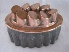 Antique Victorian copper & tin tumbling pennies jelly / jello mould / mold | eBay