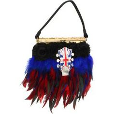 Sales Inspired by Claire Jane - English Electric Feather Purse (Red/Blue/Black/Petite Vintage) - Bags and Luggage new - Zappos is proud to offer the Inspired by Claire Jane - English Electric Feather Purse (Red/Blue/Black/Petite Vintage) - Bags and Luggage: Zappos is proud to have Inspired by Claire Jane as part of our program!
