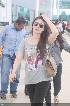 Kareena Kapoor spotted at Mumbai airport on March Punjabi Fashion, Bollywood Fashion, Western Outfits, Indian Outfits, Bollywood Celebrities, Bollywood Actress, Karena Kapoor, Chitrangada Singh, Celebrity Style Inspiration