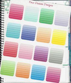 16 horizontal ombre box stickers for erin condren life planner plum paper filofax or