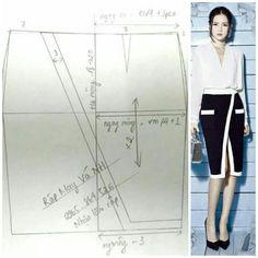 Pattern: Skirt with overlap