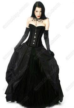 plus goth dress quinceanera
