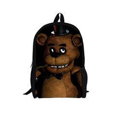 Five Nights at Freddys School Bags for Teenager Girls Boys Cute Cartoon Backpack Kids Schoolbag Children Bookbag Mochila Escolar