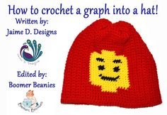 How to crochet a graph into a hat!  #crochet #graph