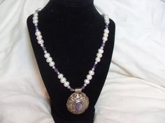 Sterling Amethyst Necklace On Sale Baroque by GingersLittleGems