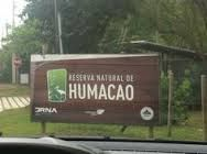 Signage to Humacao's Nature Reserve