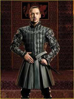 """Jonathan Rhys Meyers as King Henty VIII in """"The Tudors."""" He didn't have """"the look"""" which bothered me but omg he had the intensity."""