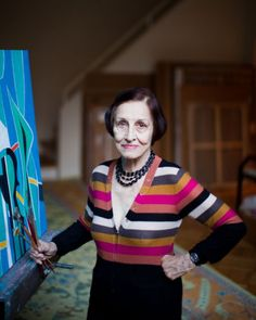 Francoise Gilot, October 2011 in her Manhattan atelier. Gilot is a French painter and bestselling author. She is also known as the lover and artistic muse of Pablo Picasso from 1944 to 1953, and the mother of his children, Claude Picasso and Paloma Picasso. She was married to Jonas Salk.