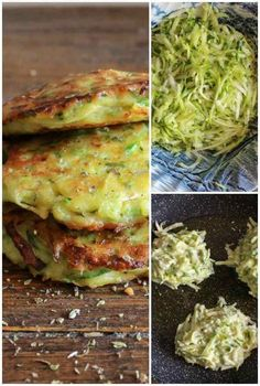 Zucchini Patties a delicious healthy easy recipe the perfect side dish appetizer or even main dish a yummy way to add some veggies! Easy Healthy Recipes, Healthy Cooking, Easy Meals, Healthy Eating, Cooking Recipes, Cheap Recipes, Healthy Dishes, What's Cooking, Cooking Classes