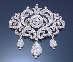 DIAMOND BROOCH, MID 19TH CENTURY. by Divonsir Borges