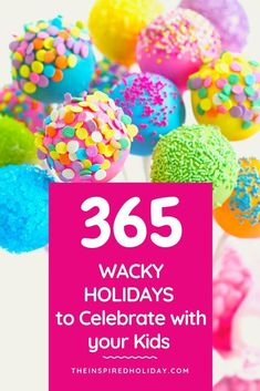 365 Wacky Holidays to celebrate with your family. Find all the wacky, silly and unique holidays you can celebrate with your family all year round. Free Slurpee Day, National Holiday Calendar, Silly Holidays, Waffle Day, Enjoy The Little Things, Fun Things, Cake Day, Holiday Traditions, Family Traditions