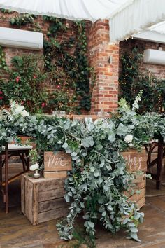 Top Table Heavy Eucalyptus Foliage with White Roses Park Weddings, Real Weddings, Northbrook Park, Olive Branch Wedding, Rustic French, Wedding Centerpieces, Wedding Decorations, Our Wedding, Wedding Ceremony