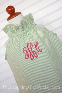 The LilyGirls Monogrammed Dress Easter Dress by TheLaughingGiraffe, $46.00