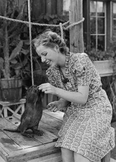 Vintage Photographs Of Exotic Pets