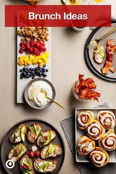 Plan a brunch spread that wows with ideas & recipes that make the most of breakfast and lunch. Plan a brunch spread that wows with ideas & recipes that make the most of breakfast and lunch. Brunch Menu, Brunch Party, Brunch Recipes, Brunch Ideas, Brunch Food, Birthday Brunch, Easter Brunch, Breakfast Dishes, Breakfast Recipes