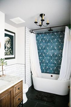 Easy Ways To Love Your Home; Farmhouse Bathroom Decor Ideas As far as home-improvement projects go, it's not the scale of the changes that you make. House, Interior, Bathroom Farmhouse Style, Bathroom Styling, Industrial Style Bathroom, Bathroom Interior, Modern Interior, Bathrooms Remodel, Bathroom Decor