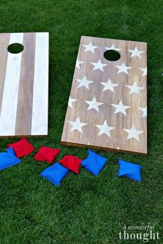 DIY Cornhole Boards - A Wonderful Thought Great tutorial on how to make DIY cornhole boards aka bean bag toss Learn how to make your own set of DIY cornhole boards with this easy tutorial. It is a perfect game to play in your backyard or during camping. Bbq Games, Tailgate Games, Lawn Games, Tailgating Ideas, Redneck Games, Camping Games, Camping Ideas, Games To Play, Cornhole Designs