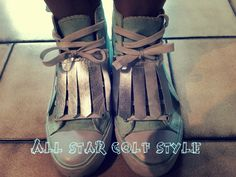#shoes #allstar #golf #silver #lace