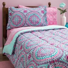 Shop For Thalia Purple Medallion Bed In A Bag With Extra Sheet Set. Get  Free Delivery At Overstock.com   Your Online Kidsu0027, Teen, U0026 Dorm Bedding  Store!