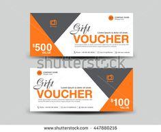 Silver Gift Voucher Template DesignVoucher TemplateCard Design