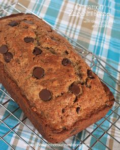 Cinnamon Zucchini Bread with Chocolate Chips and Walnuts-so good you'll want to eat it all day long!