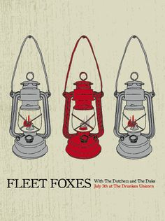 indie music poster design | Fleet Foxes | Tumblr