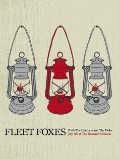 indie music poster design   Fleet Foxes   Tumblr