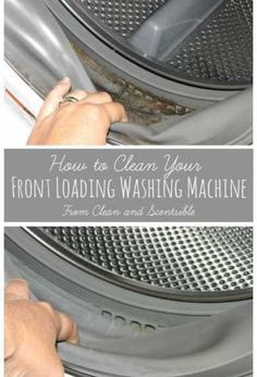 How to clean your front loading washing machine.