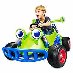 Disney Toy Story RC Ride On Vehicle | Disney StoreToy Story RC Ride On Vehicle - Get behind the wheel with Andy's favorite buggy, RC, to win all the playdate races. This child-size ride on vehicle is equipped with real forward and reverse power wheels, power lock brakes and graphics.