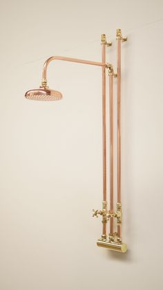 Simple Solutions To Problems With Your Plumbing – Plumbing Rustic Bathroom Shower, Rustic Bathrooms, Shower Plumbing, Plumbing Installation, Copper And Brass, Copper Taps, Custom Shower, Bathroom Fixtures, Concrete Floors