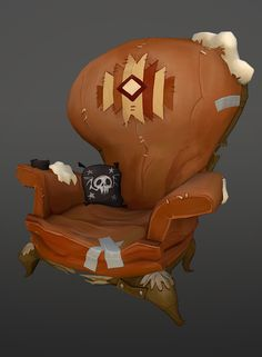 Polycount Forum - View Single Post - What Are You Working On? Environment Concept Art, Environment Design, Prop Design, Game Design, Chair Design, Zbrush, Game Textures, 3d Mesh, Hand Painted Textures