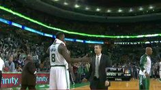 Jeff Green and Brad Stevens shared the most awkward hug of the year. | The 89 Funniest Sports GIFs Of 2013