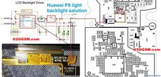 Huawei Cell Phone Screen Repair Light Problem Solution Jumper Ways Iphone Repair, Mobile Phone Repair, Electronic Schematics, P8 Lite, Dim Lighting, Problem And Solution, Electrical Engineering, Floor Plans, Jumper